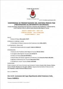 programma conferenza Prociv Pas Massa 1 marzo 2014