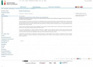 'Ministero Dell'Interno - Notizie' - PROCIV PAS